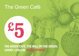 £5 Green Cafe Gift Voucher