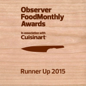 Observer Food Awards Runner Up 2015